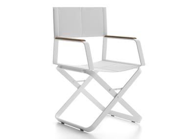 Contemporary style folding chair with armrests XENIA
