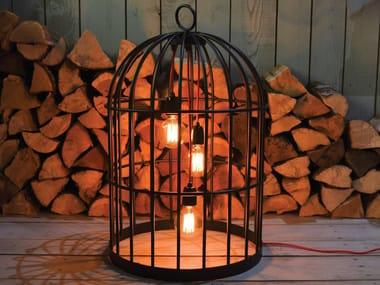 Lampada da terra in metallo XL BIRD CAGE