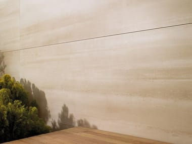 Ultra thin laminated stoneware wall tiles with concrete effect XLIGHT CONCRETE BEIGE