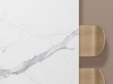 Porcelain stoneware washbasin countertop / kitchen worktop XTONE KALA WHITE