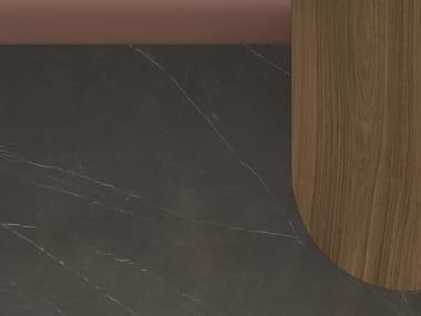 Porcelain stoneware washbasin countertop / kitchen worktop XTONE SAVAGE DARK