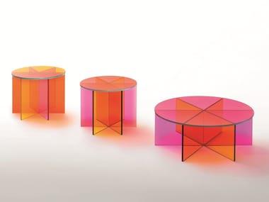 Low round crystal coffee table XXX