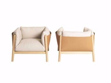 Fabric armchair with armrests YAK | Armchair