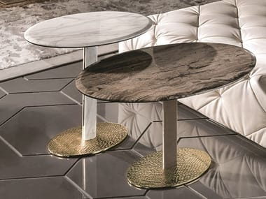 Oval marble coffee table YAKI | Oval coffee table