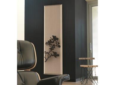 Vertical wall-mounted panel radiator YANG NATURE ROSA