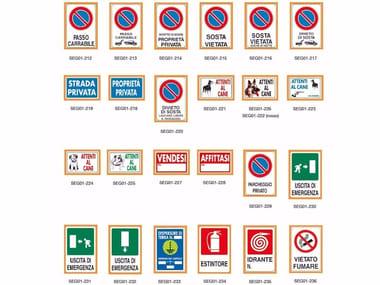 Cartello per segnaletica stradale e privata CARTELLO SEGNALETICO 20 x 30