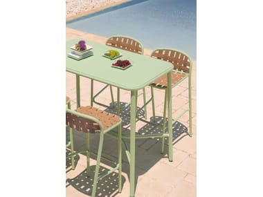 High stackable aluminium garden stool YARD | Stool