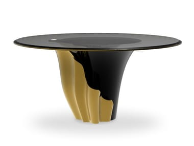 Lacquered round dining table YASMINE | Table
