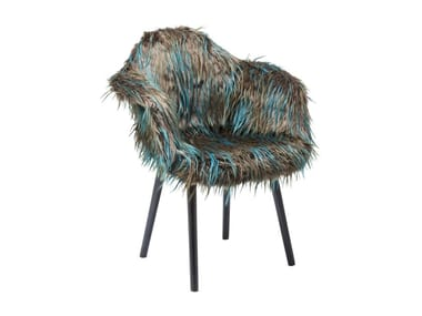 Easy chair with armrests YETI FUR