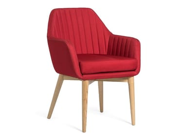 Fabric chair with armrests YOKO