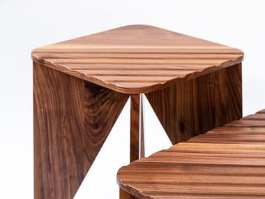 Low square wooden coffee table YOKO