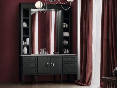 Mobile lavabo laccato con specchio YORK 60