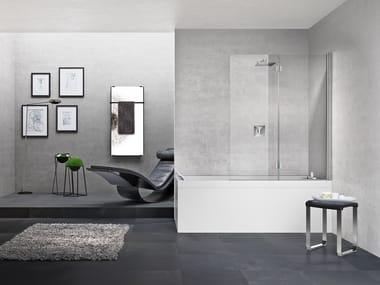 Mampara de bañera en aluminio y vidrio YOUNG 1BSV