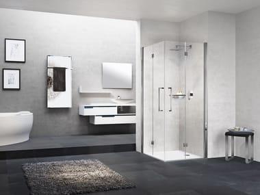 Box doccia angolare con porta a soffietto YOUNG 2GS