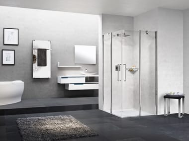 Box doccia angolare con porta a battente YOUNG A