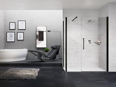 Box doccia angolare con porta a battente YOUNG G+F IN LINEA