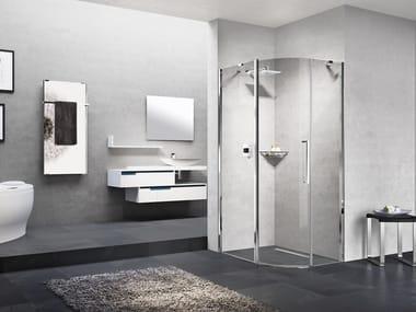 Box doccia semicircolare con porta a battente YOUNG R