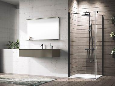 Box doccia angolare in alluminio con piatto con porta a battente YOUNG | G+F