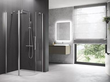 Box doccia semicircolare con porta a battente YOUNG | R