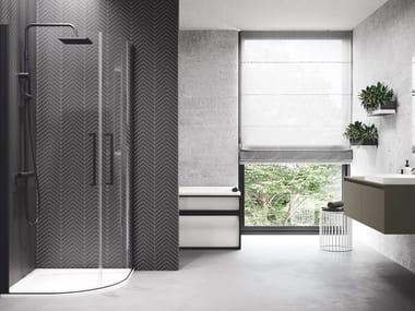 Box doccia semicircolare con porta a battente YOUNG | R2 LUX