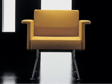 Fabric easy chair with armrests YPSILON | Easy chair