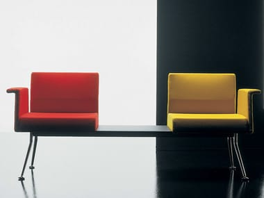 Freestanding beam seating with armrests YPSILON | Beam seating