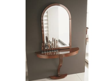 Wood and glass console table / mirror Z 1257 | Console table