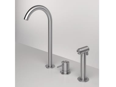 3 hole kitchen mixer tap with pull out spray Z316 | 3 hole kitchen mixer tap
