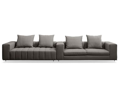 Sectional 4 seater fabric sofa CLARINETTO | Sectional sofa