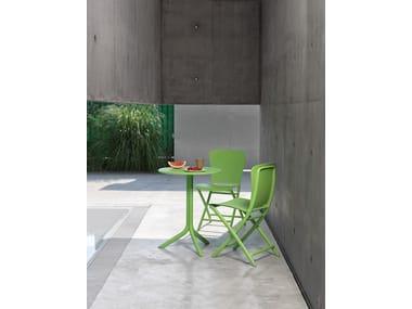 Table de jardin ronde en fibre de verre de style contemporain pour ...