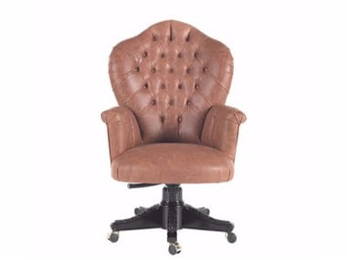 Leather executive chair with armrests ZACK