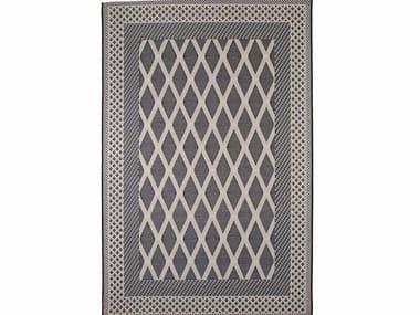 Rectangular outdoor rugs with geometric shapes ZOE ROMBI