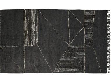 Patterned handmade wool rug ZANOTTA - BERBÈRE PATTERN A