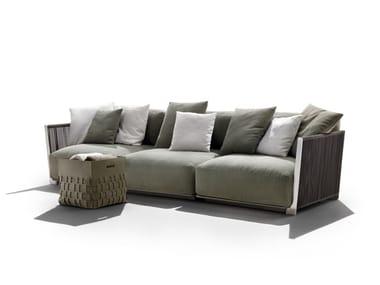 Sofá de jardín composable de tela VULCANO | Sofá de jardín