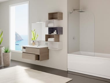 Crystal bathtub wall panel ZANTE