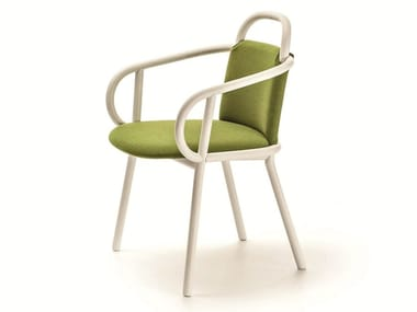 Fabric restaurant chair with armrests ZANTILAM 02