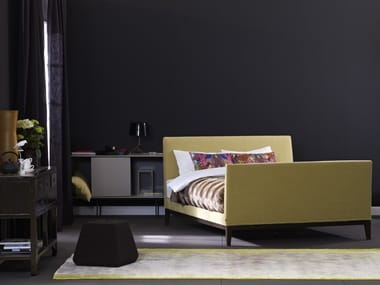 Upholstered bed with high headboard ZARA 1