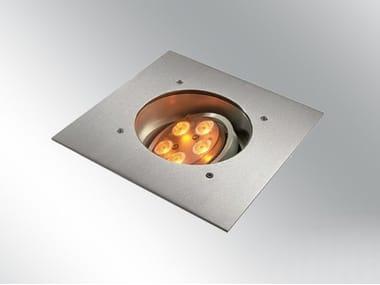 Segnapasso a LED a pavimento carrabile in metallo ZAXOR O HP LED