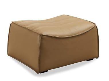 Leather footstool ZB-01 | Footstool