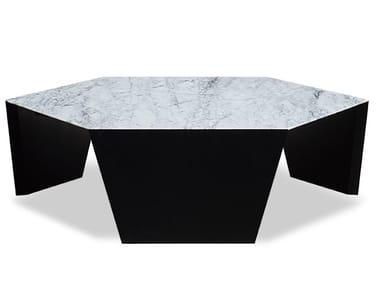 Hexagonal Carrara marble coffee table ZD-14 | Coffee table