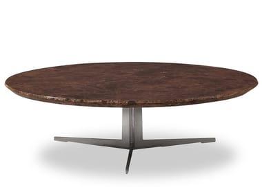 Dark Emperador marble coffee table ZD-18 | Coffee table