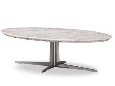 Oval Carrara marble coffee table ZD-25 | Coffee table