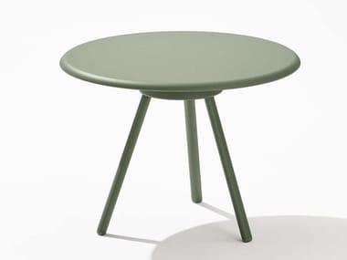 Tavolino da giardino rotondo in alluminio ZEBRA | Tavolino
