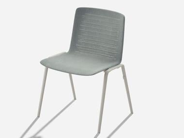 Polyester garden chair ZEBRA KNIT | Garden chair