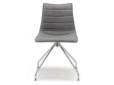 Swivel trestle-based chair ZEBRA POP | Trestle-based chair