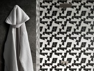Rivestimento in ceramica ZELLIGE | Mosaico Gesso/Carbone