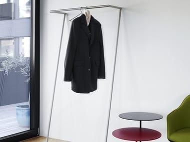 Chrome plated steel coat rack ZEN
