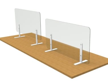 PMMA desktop barrier ZEN PROTECT | Protective barrier