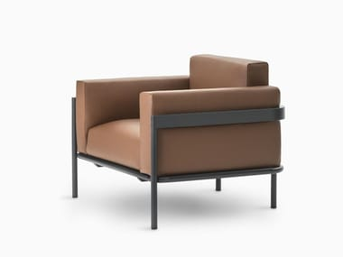 Fabric armchair with armrests ZENIT | Armchair