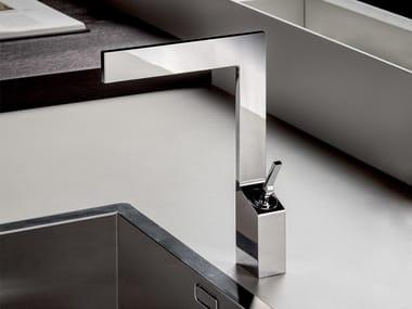 Countertop single handle chromed brass kitchen mixer tap ZENIT | Kitchen mixer tap